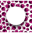 new year background with pink balls vector image vector image