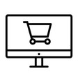 online shopping pixel perfect thin line icon 48x48 vector image vector image