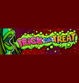 open mouth and trick or treat vector image vector image