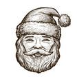 portrait happy santa claus christmas sketch vector image