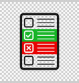 questionnaire icon in transparent style online vector image vector image