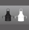 realistic black and white kitchen apron vector image