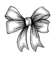 ribbon tied in a bow Freehand drawing vector image vector image