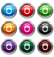 ring set 9 collection vector image vector image