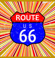 route 66 retro background vector image vector image