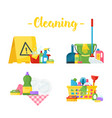 sanitary chemical products vector image vector image