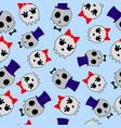Seamless pattern of cute skeletons