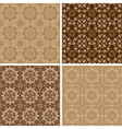 Seamless set four vintage backgrounds vector image