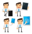 set funny cartoon manager vector image vector image