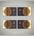 set of four golden floral ornamental cards vector image