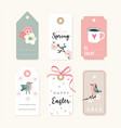 set spring easter gift tags and labels vector image vector image