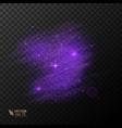 shiny glitter glow light effect vector image vector image