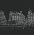 sketch ferrari square vector image vector image