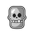 skull halloween logo icon design vector image