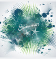 summer time sign on abstract blot spot background vector image vector image