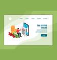 tax service online banner vector image vector image