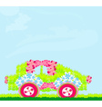 The ecological car from plants vector image vector image