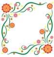 the pattern bright stylized flowers vector image vector image