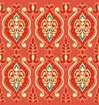 tribal ethnic flower texture ikat fabric vector image vector image