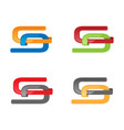 various color style s letter logo vector image vector image