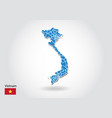 vietnam map design with 3d style blue vietnam map vector image vector image