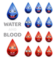 water and blood vector image