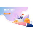 web page design - customer retention theme office vector image vector image