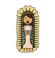 white background of colorful virgin of guadalupe vector image