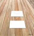White envelope on wood background vector image