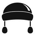 winter fashion headwear icon simple style vector image vector image
