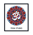 Yoga studio business template with chakra Manipura vector image