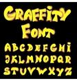 English alphabet in graffiti style vector image