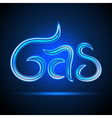 Floating word GAS made of gas flame vector image