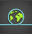 icon planet earth vector image