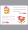 sale -30 and -50 off set vector image