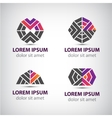 set of abstract icons logos vector image