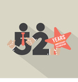 52nd Years Anniversary Typography Design vector image vector image