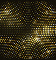 abstract black background with retro gold glitter vector image vector image