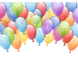 background with balloons vector image vector image