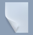 blank sheet paper vector image vector image