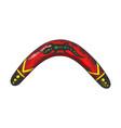 boomerang color sketch engraving vector image vector image