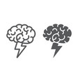brainstorm line and glyph icon business and idea vector image vector image