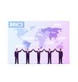brics association major emerging national vector image