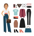 Business woman clothing vector image vector image