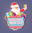 Christmas big sale sticker santa claus