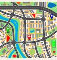 city mapvektor vector image vector image