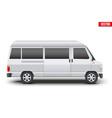 classic transfer service minibus vector image