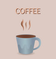 coffee cup banner realistic product vector image vector image