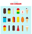 collection of delicious ice cream vector image