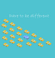 concept dare to be different graphics car vector image